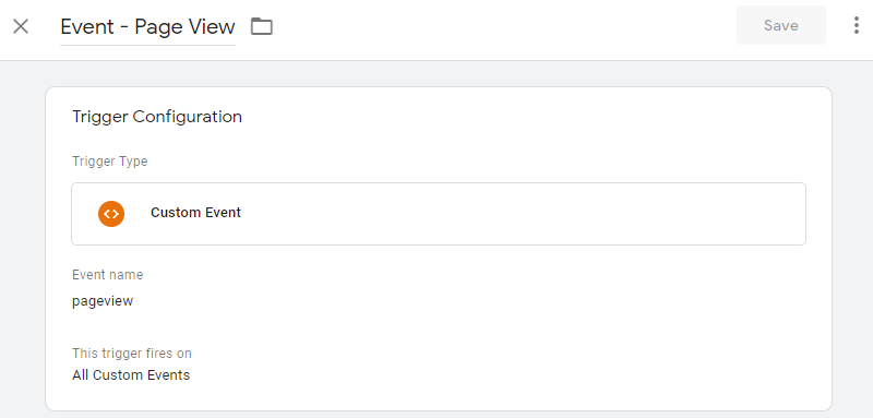 Google Tag Manager React Page View Trigger