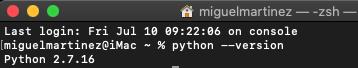 Anaconda Macos Python Version