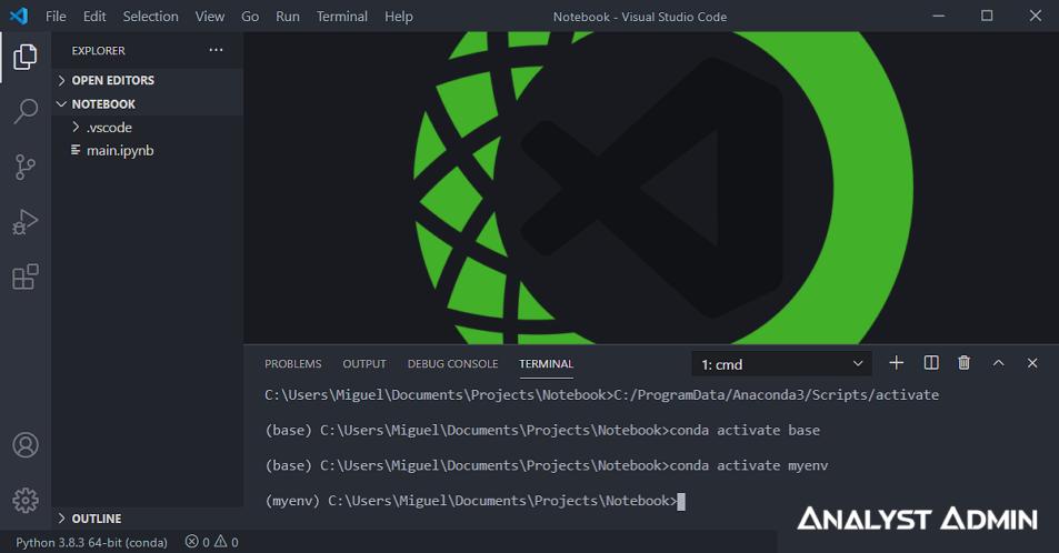 Visual Studio Code With Anaconda Jupyter Notebook Cover Analystadmin 953x498