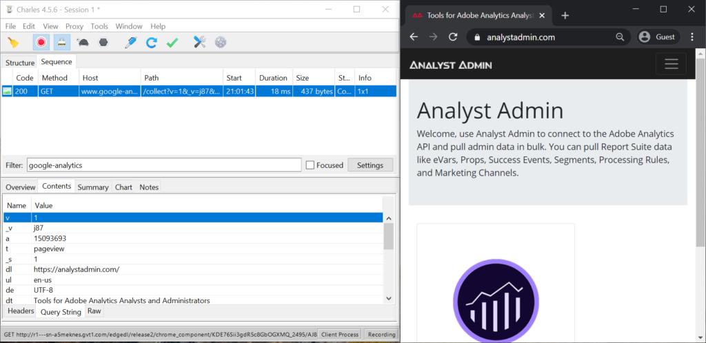Charles Proxying Https Google Analytics Traffic 1024x498