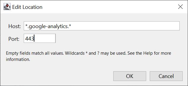 Charles Ssl Proxying Settings Edit Location Set To Google Analytics