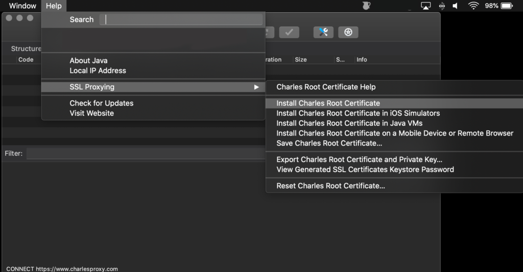 MacOS Charles Install Root Certificate 1024x534